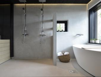 Novacolor Wall2Floor - mikrosementti kylpyhuone harmaa+patina silver