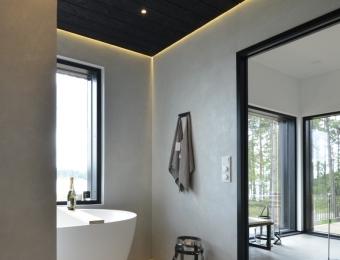 Novacolor Wall2Floor - mikrosementti kylpyhuoneen lattiassa ja seinissä, harmaa + patina silver