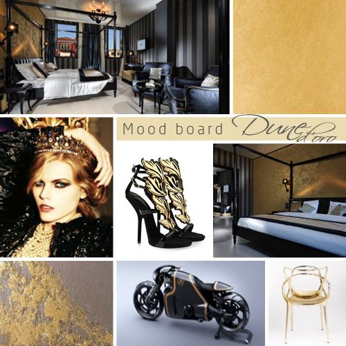 Novacolor Dune Oro -sisustusmaali Gold - kulta, Moodboard