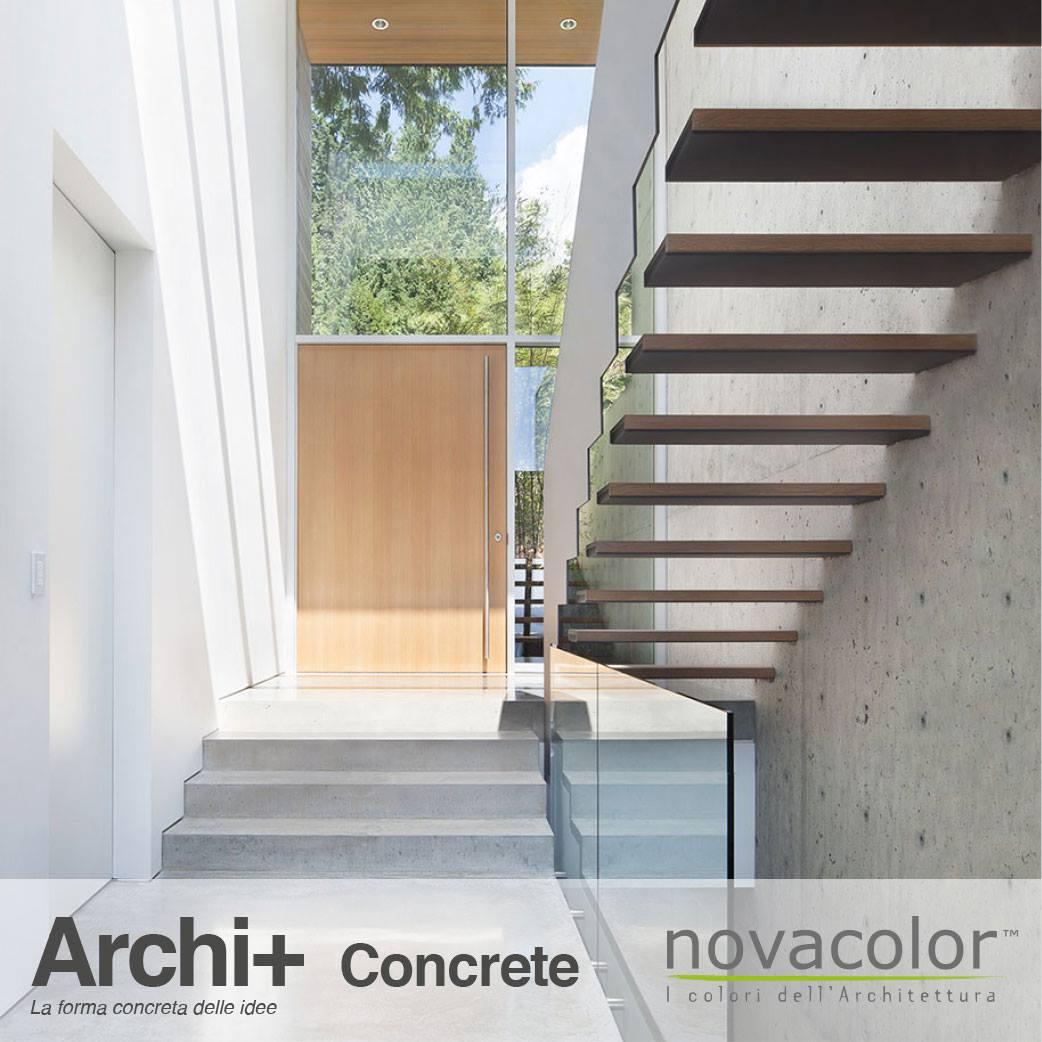 Novacolor Archi+ Concrete -sisustuslaasti, portaikko
