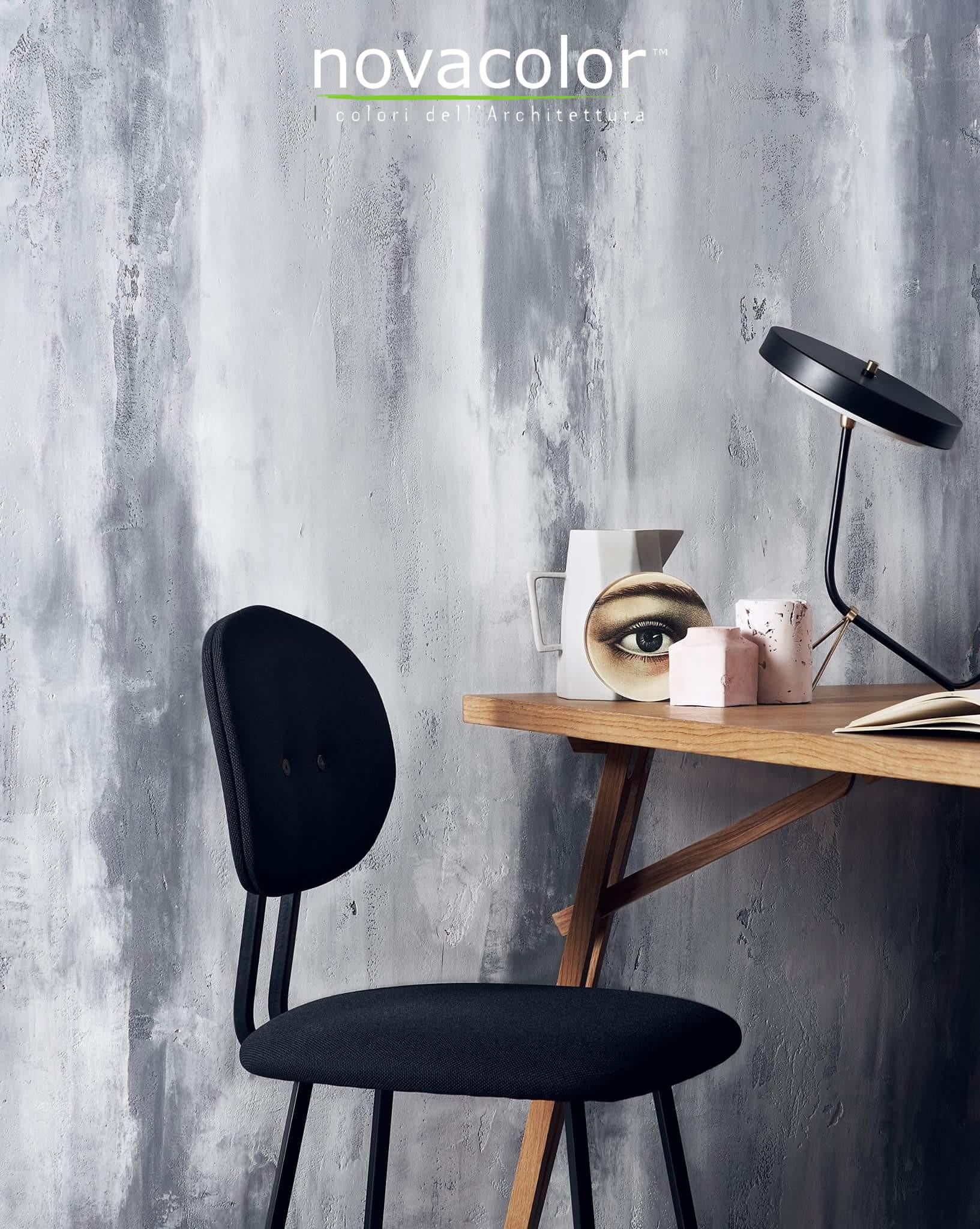Novacolor Archi+ Concrete -sisustuslaasti , liukuväri, harmaa, vaalea
