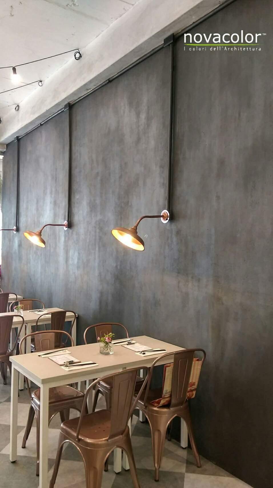 Novacolor Archi+ Concrete sisustuslaasti, ravintola, kahvila