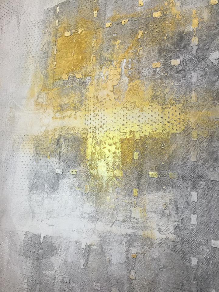Novacolor CALCECRUDA -sisustuslaasti, harmaa, kulta, gold