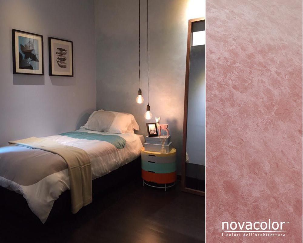 Novacolor Dune - sisustusmaali liukuväri, pinkki - vaalea, makuuhuone