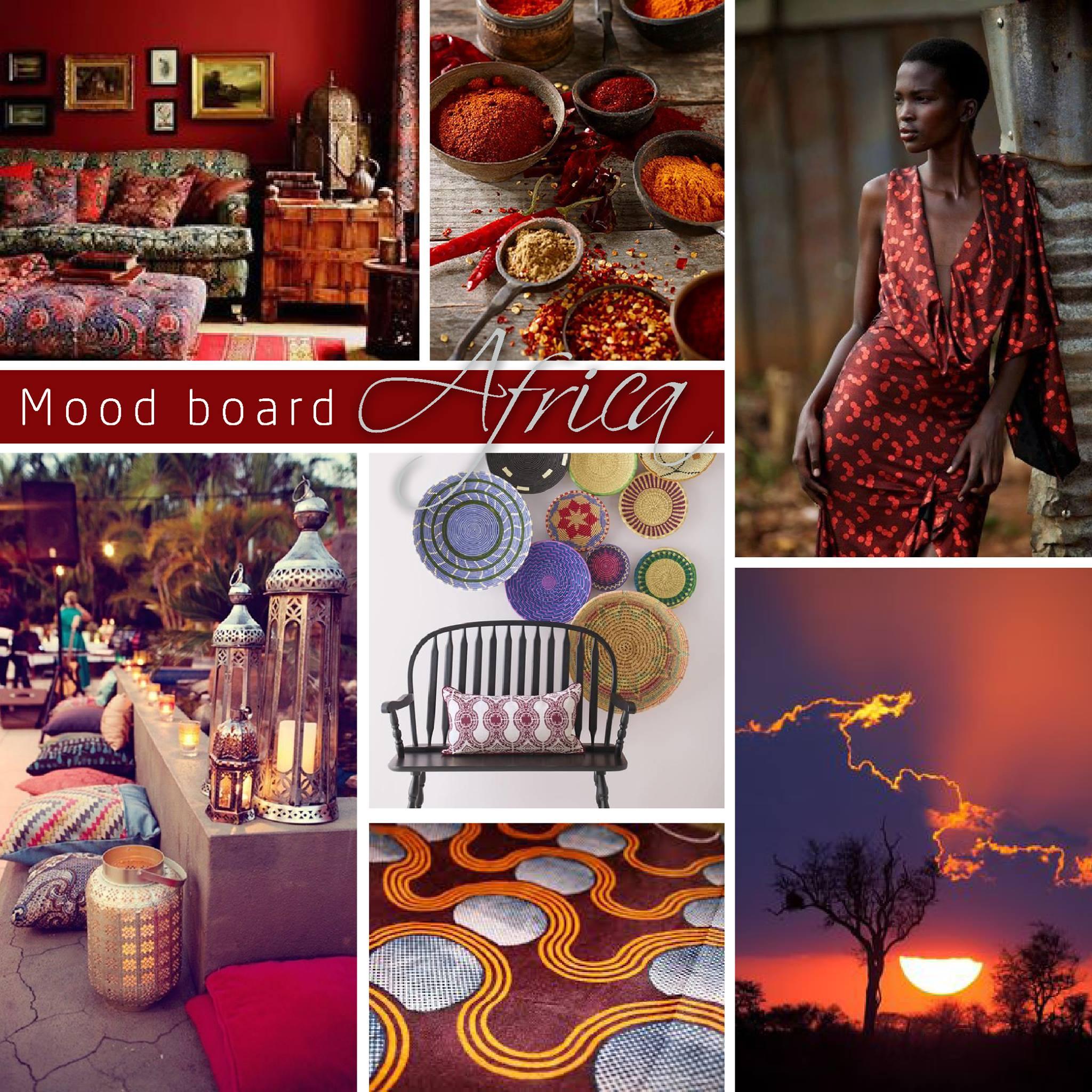 Novacolor Metallics Africa - efektimaali Moodboard