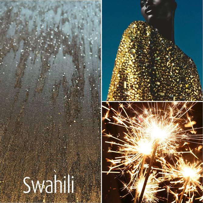 Novacolor Swahili -sisustusmaali + Hypnose kimalle, säihkettä