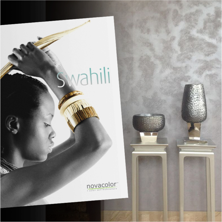 Novacolor Swahili -sisustusmaali, olohuone, harmaa