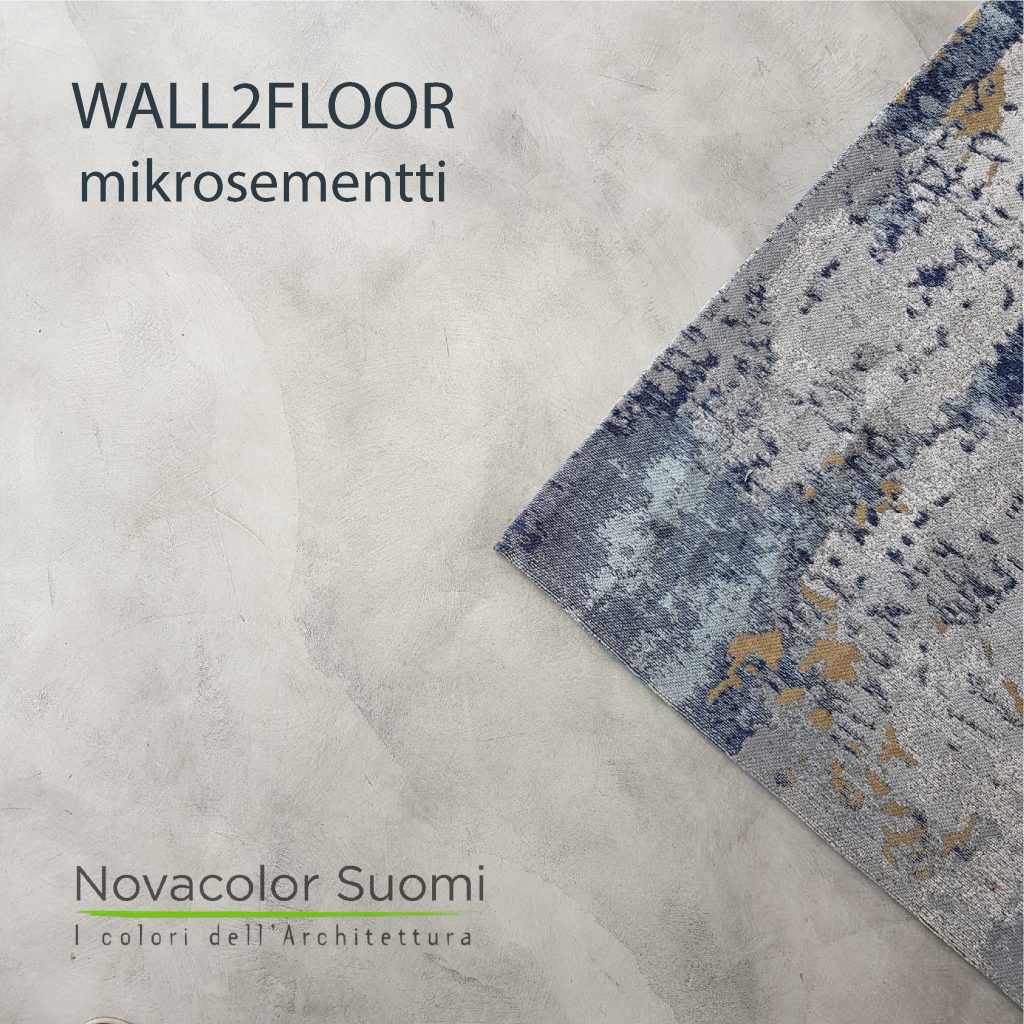 Novacolor Wall2Floor - mikrosementti Pori asuntomessukohde 23 Luoto, pieni