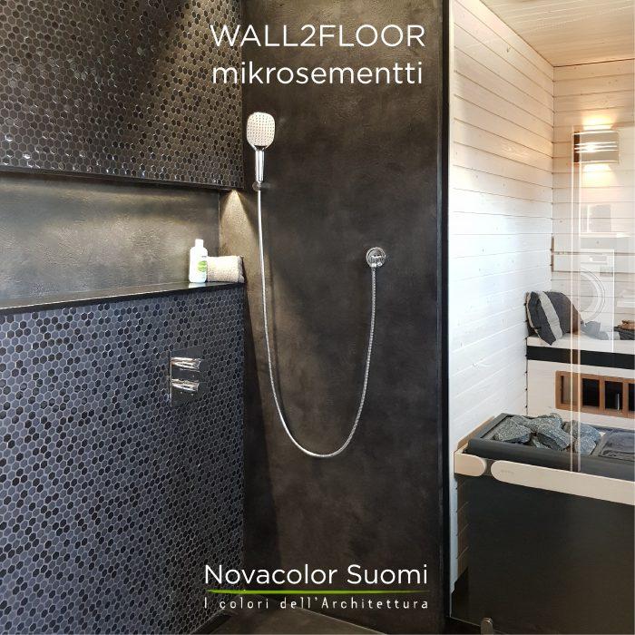 Wall2Floor - mikrosementti, musta Patina