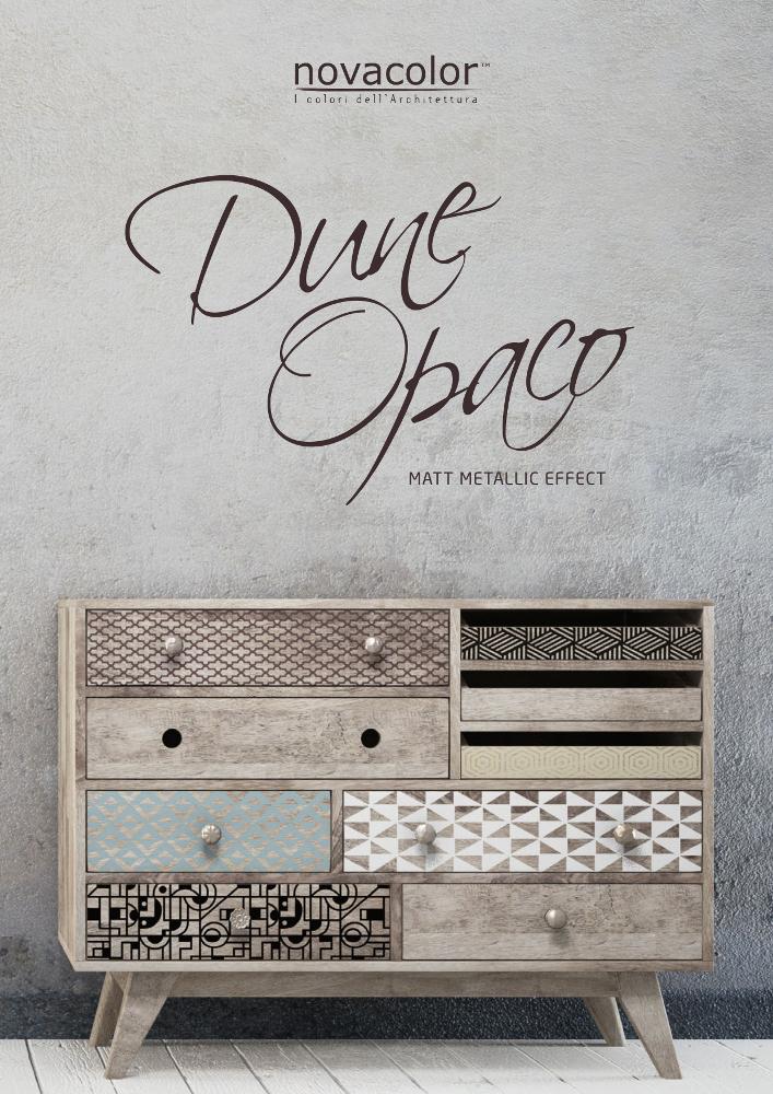 Novacolor Dune Opaco efektimaali perusvarikartta 2018