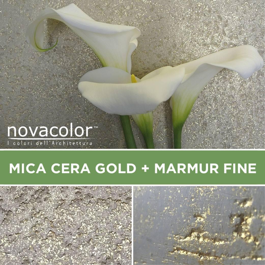 Novacolor Marmur sisustuslaasti Mica Gold vaha