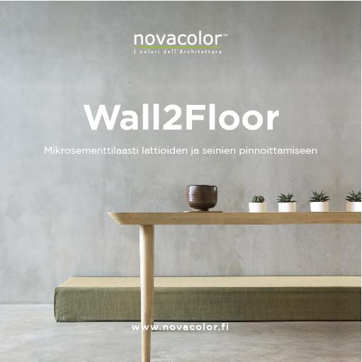 Novacolor Wall2Floor FI Esite 2018 kansikuva