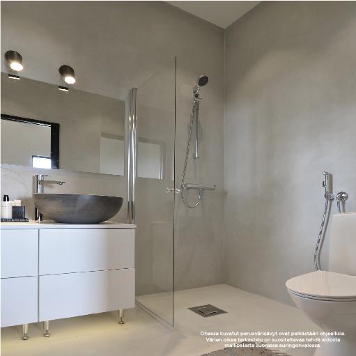 Novacolor Wall2Floor - mikrosementti, W2F 055+Patina Silver, Mikkelin asuntomessut 2017