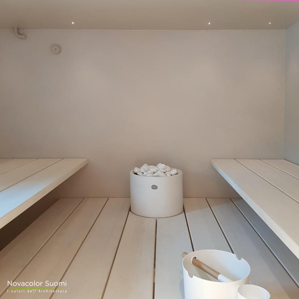 Novacolor Wall2Floor - mikrosementti W2F 027 sauna inside