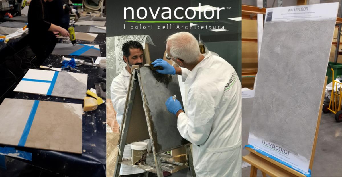 Novacolor kurssit mikrosementti sisustuslaasti sisustusmaali efektimaali patinointi