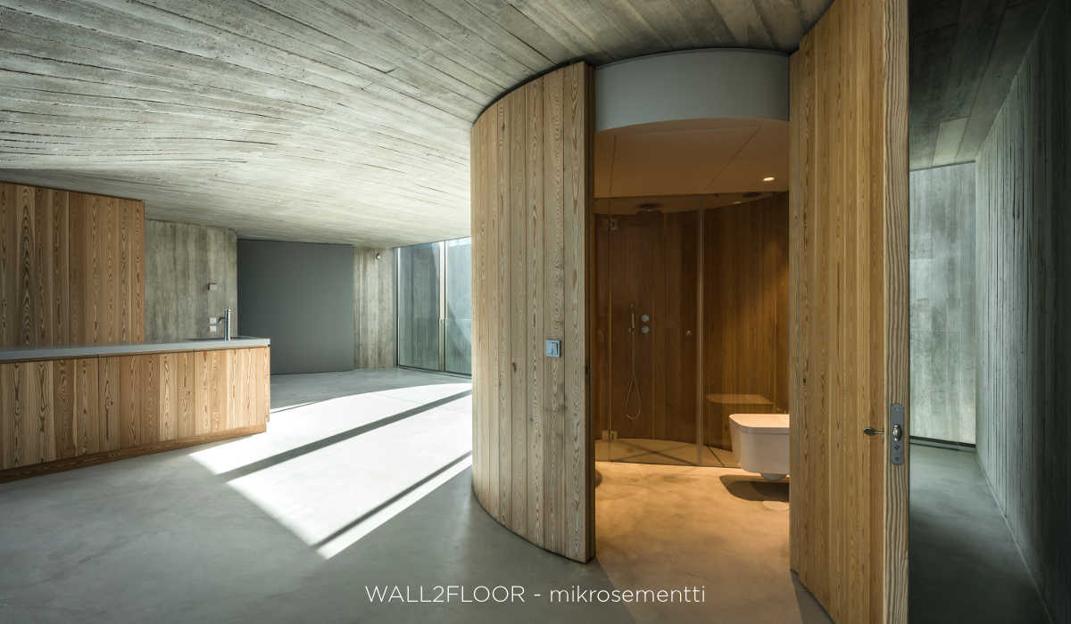 Novacolor Wall2Floor mikrosementti lattiassa