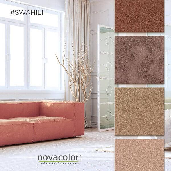 novacolor-swahili-gold-kulta-silver-hopea-efektimaali-hiekkamaali-sisustusmaali-punainen-sohva-olohuone-s